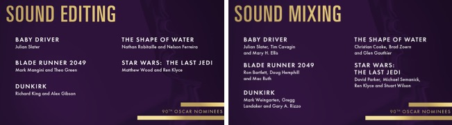 best sound oscar
